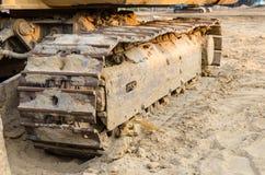 Caricatori dell'escavatore a cucchiaia rovescia Immagini Stock