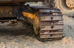 Caricatori dell'escavatore a cucchiaia rovescia Immagini Stock Libere da Diritti