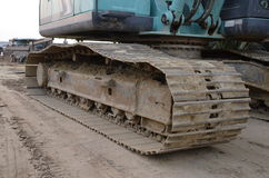 Caricatori dell'escavatore a cucchiaia rovescia Fotografia Stock Libera da Diritti