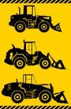 Caricatori della ruota Macchina della costruzione pesante Vettore Immagine Stock