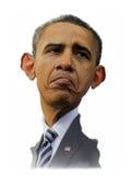 Caricatura de Barack Obama Imágenes de archivo libres de regalías