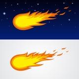 Caricatura de los cometas Stock de ilustración