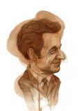 Caricatura de Nicola Sarkozy Imágenes de archivo libres de regalías