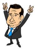 Caricatura de Ted Cruz Imagem de Stock