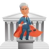 Caricatura del abogado americano y del consejo especial designado Robert Mueller ilustración del vector