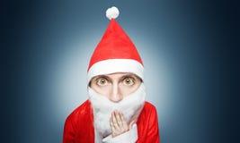 Caricatura del Babbo Natale sorpreso Immagine Stock Libera da Diritti