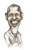 Caricatura di Barack Obama Fotografie Stock