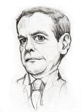 Caricatura di Medvedev Immagini Stock Libere da Diritti