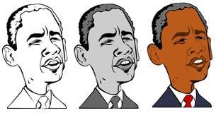 Caricatura di obama di Barack Fotografia Stock Libera da Diritti