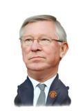 Caricatura di sir Alex Ferguson Fotografia Stock