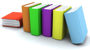 Caricatura di una pila di libri Fotografia Stock