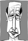 Caricatura do homem idoso Fotografia de Stock