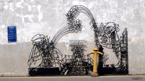 Caricatura soldada con autógena del alambre Foto de archivo libre de regalías