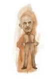 Caricatura vazia dos bolsos de George Papandreou Fotografia de Stock