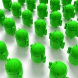 caricatura verde dei androids 3D Immagine Stock Libera da Diritti