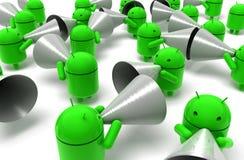 caricatura verde del android 3D Fotografia Stock