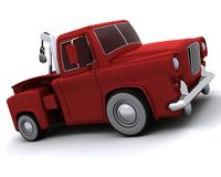 Caricature of 50's pickup truck Stock Photography