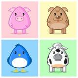 Caricature animale mignonne Photo libre de droits