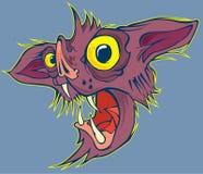 Caricature bat face  file Stock Image