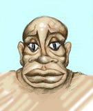 Caricature of black man Stock Photos