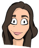 Caricature of brunette girl Royalty Free Stock Photography