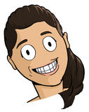 Caricature of brunette girl Royalty Free Stock Photo
