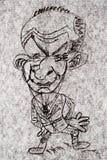 Caricature - Cartoon Businessmen. Hand drawn caricature - cartoon like businessmen smiling Stock Photo