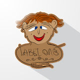 Caricature cartoon human face. Royalty Free Stock Image