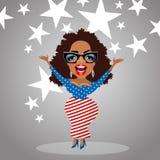 Caricature of celebritY Oprah Winfrey Royalty Free Stock Photo
