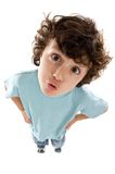 Caricature of a child. A over white background royalty free stock photo
