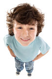 Caricature of a child. A over white background royalty free stock photos