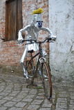 Caricature cyclist of metal. Brazil Stock Photo