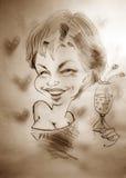 Caricature d'une femme Photographie stock libre de droits