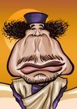 Caricature de Muammar Gaddafi Photos stock
