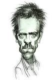 Caricature of Dr. House royalty free illustration