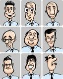 Caricature faces collection Stock Photos