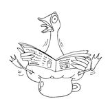 Caricature of a goose Royalty Free Stock Photography