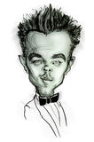 Caricature of Leonardo di Caprio Royalty Free Stock Photography