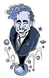 Caricature series: Mel Brooks Royalty Free Stock Image