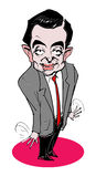 Caricature series - Mr. Bean. Hand drawn caricature of actor-movie film, Mr. Bean
