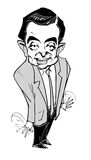 Caricature series - Mr. Bean Stock Photo