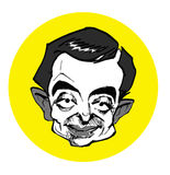 Caricature series - Mr. Bean Royalty Free Stock Images