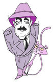 Caricature series: Peter Sellers Royalty Free Stock Images