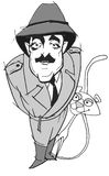 Caricature series: Peter Sellers stock illustration