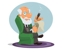 Caricature of Sigmund Freud Stock Photos