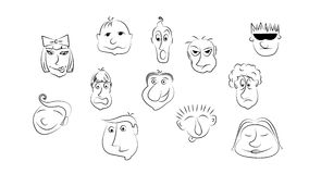 Caricature sur Shcoolboard dans le vecteur Photo stock