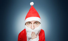 Caricature of surprised santa claus Royalty Free Stock Image