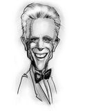 Caricature of Ted Danson (actor) royalty free illustration