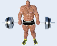 Caricature of weight lifter Stock Photography