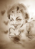 Caricature of a woman Royalty Free Stock Photography